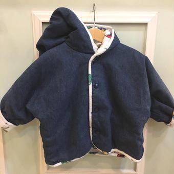 【USED】Reversible Denim & cotton print jacket