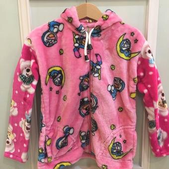 "【USED】""Draemon"" & Bear boa fabric Paka"