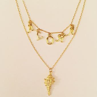 ALOHA  shell loco necklace