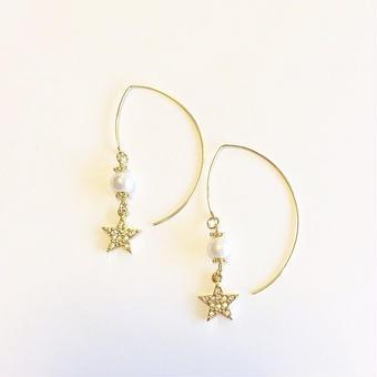 【Mlagoon】Star pearl ピアス