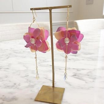 【Mlagoon】Flower chandelier ピアス