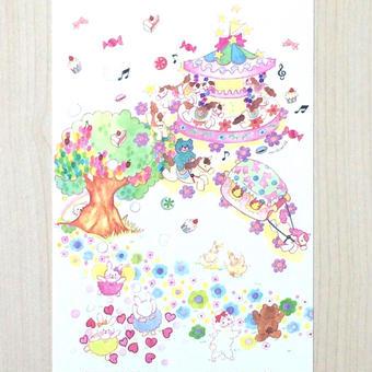 ポストカード〈バラ売り〉 メリーゴーランド_PC-Y124
