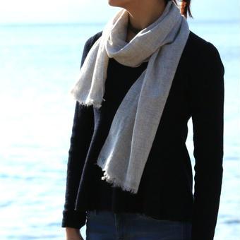 カシミヤスカーフ Light Gray