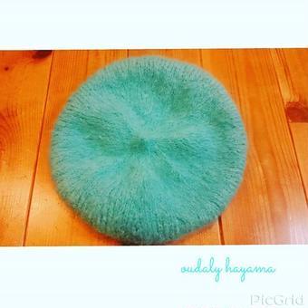 手編みベレー帽