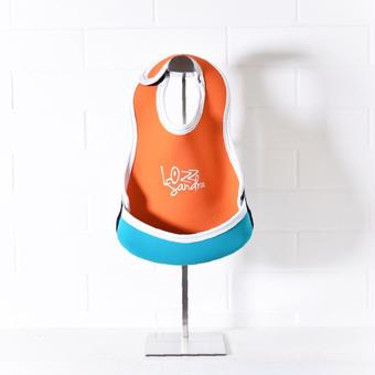 Lozz Sandra/BABY BIB/Orange x Turquoise