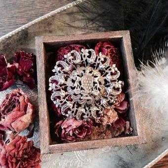 costume jewelry / brooch コスチュームジュエリー ブローチ   ■ta-906