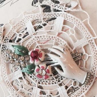 costume jewelry/brooch コスチュームジュエリー ブローチ    ■td- 913