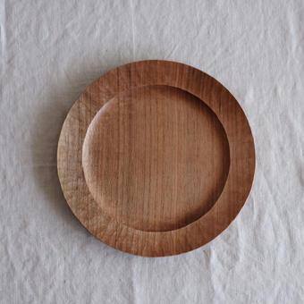 渡邊  浩幸さんの  パン皿 クルミ 20cm