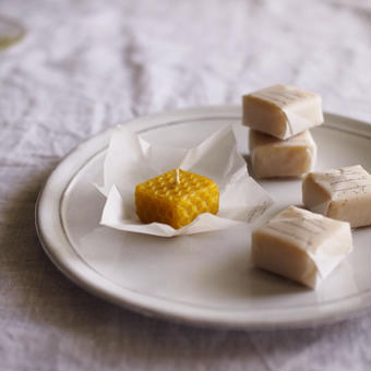 card_yaさんキャンドル caramel(5peaces)