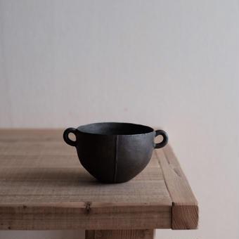 馬酔木 誠(アセビ マコト)さんのスープボウル  黒(鉄釉)