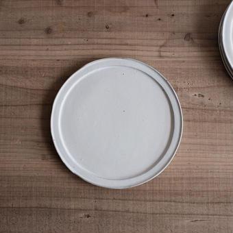馬酔木 誠(アセビマコト)さんの ワンプレート料理用平皿 白マット