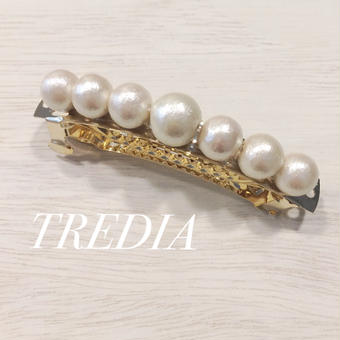 cottonpearl barrette(big)