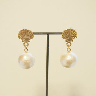 shell×cottonpearl pierce