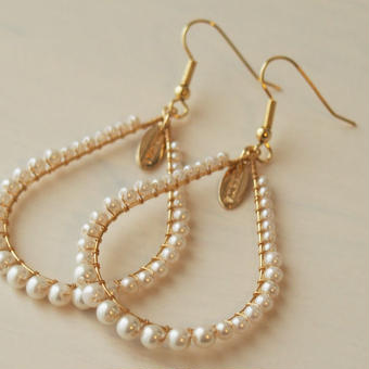 pearl hoop pierce(natural)
