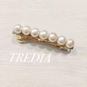 cottonpearl barrette(small)