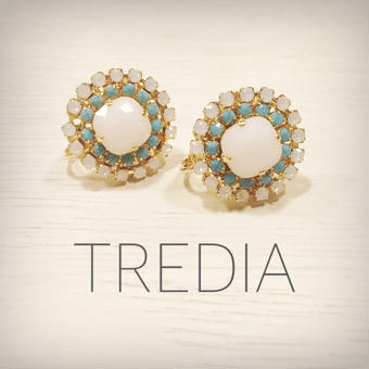 ocean color earring(white)