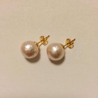 10mm cottonpearl pierce(ピンク)