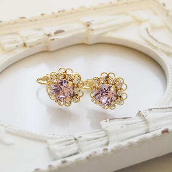 flower bijou earring(バイオレット)