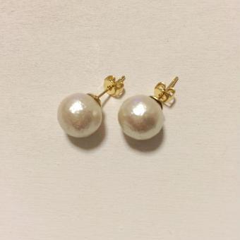 10mm cottonpearl pierce(キスカ)