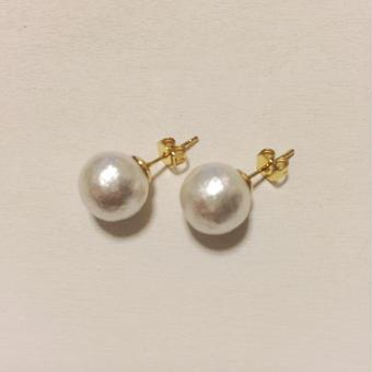 10mm cottonpearl pierce(ホワイト)