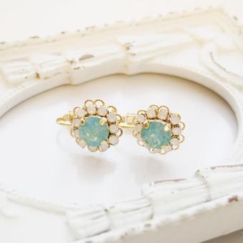 flower bijou earring(パシフィックオパール)
