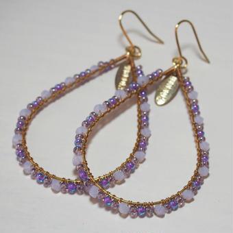 beads hoop pierce