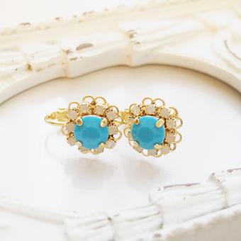flower bijou earring(ターコイズ)