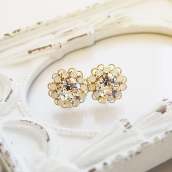 flower bijou pierce(クリスタル)