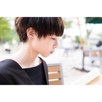 melt  chain earring(片耳)