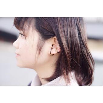 月と太陽 ear cuff 小