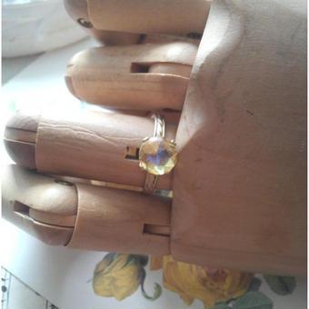 ヴィンテージ シトリンHoneyドラゴンズブレス  マットGold指輪