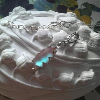 サフィレット フロストBlue  Silver925ネックレス