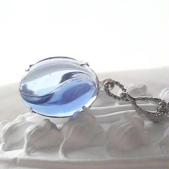 ヴィンテージ Blue 2-tone ネックレス