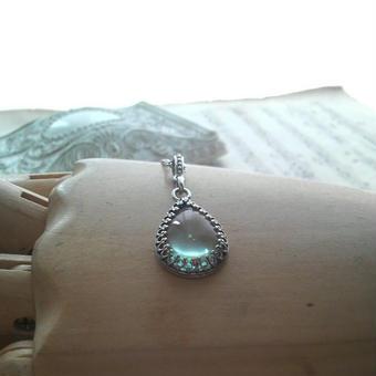 サフィレット(Pear-Shape)Silver925 クラシカルネックレス