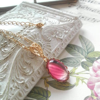 ヴィンテージ Rose-gradation(Ruby / Jonquil )ネックレス