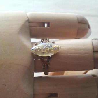 ヴィンテージ Lemon fire opal クラシカル指輪