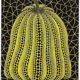 草間彌生 かぼちゃ黄色 リトグラフ版画 (60)