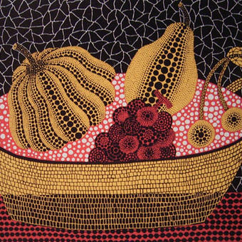 草間彌生 果物 果物とかご  リトグラフ版画(#156)