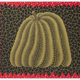 草間彌生 かぼちゃ黄色 リトグラフ版画 (63)