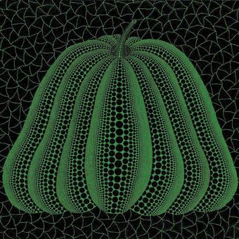 草間彌生 かぼちゃ緑  リトグラフ版画(50)