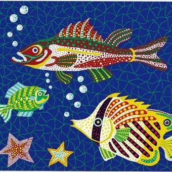 草間彌生 お魚  リトグラフ版画(#134)