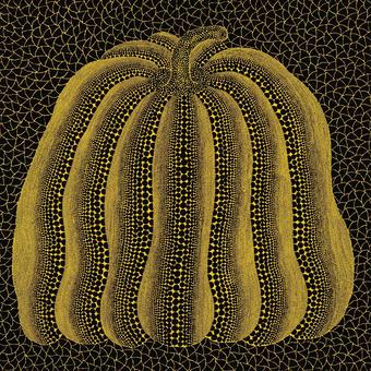 草間彌生 かぼちゃ黄色 リトグラフ版画 (224)