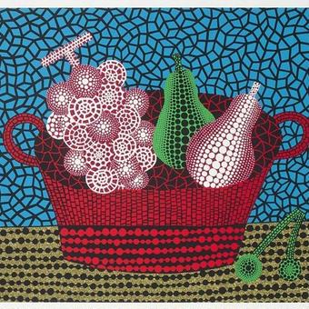草間彌生 果物 果物とかご リトグラフ版画 (96)