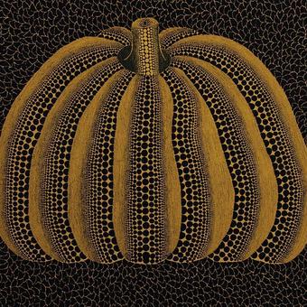 草間彌生 かぼちゃ黄色 リトグラフ版画 (218)