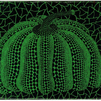 草間彌生 かぼちゃ緑  リトグラフ版画(52)
