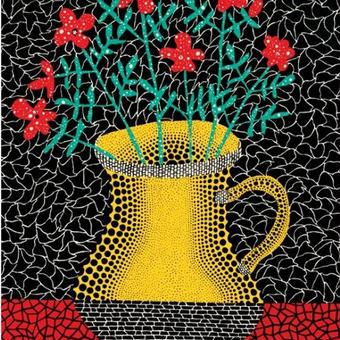草間彌生 花 花と花瓶 リトグラフ版画 (232)