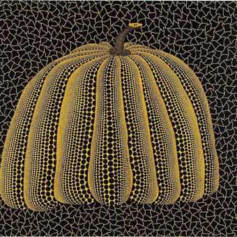 草間彌生 かぼちゃ黄色 リトグラフ版画 (59)
