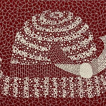 草間彌生 帽子  リトグラフ版画(25)