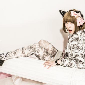 Kit Cat × doremi ストライプオリジナルタイツ