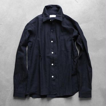 ウォッシャブルウールシャツBK【ユニセックス】
